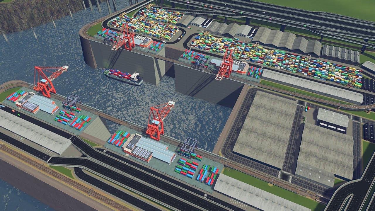 [시티즈:스카이라인] #41. 이것은 항구다  (cities skylines, Cargo hub, 화물 허브)