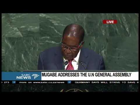 FULL SPEECH: Robert Mugabe addresses the 72nd UN General Assembly
