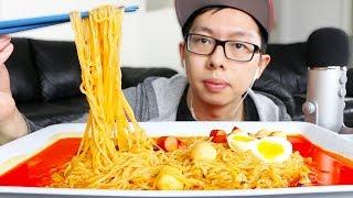 ASMR SPICY NOODLES MUKBANG (No Talking) *Eating Sounds*   Spicy Ramen (Potato Pork) Korean Mukbang