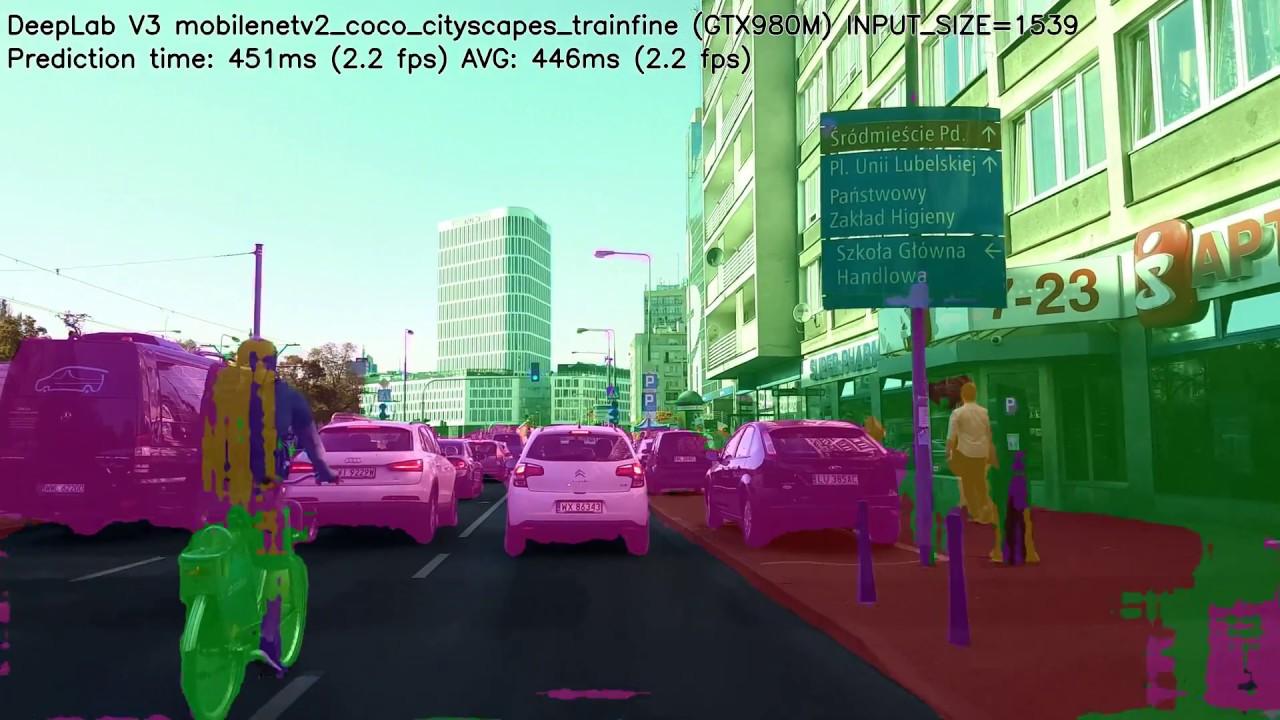 Tensorflow DeepLab v3 Mobilenet v2 Cityscapes