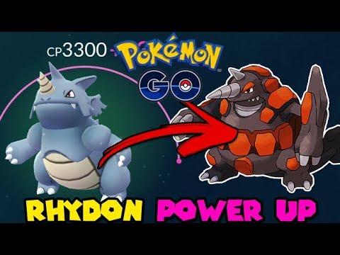 Perfect 100 Iv Rhydon Power Up In Pokemon Go Gen 4 Preparation
