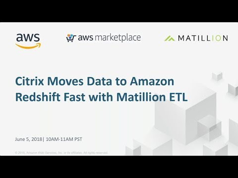 Citrix Moves Data to Amazon Redshift Fast with Matillion ETL