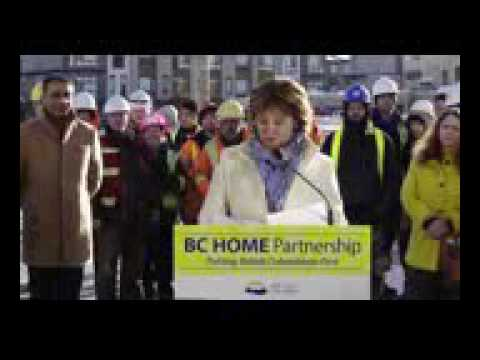 Christie Clark announces Interest Free Housing Loans at Harvest