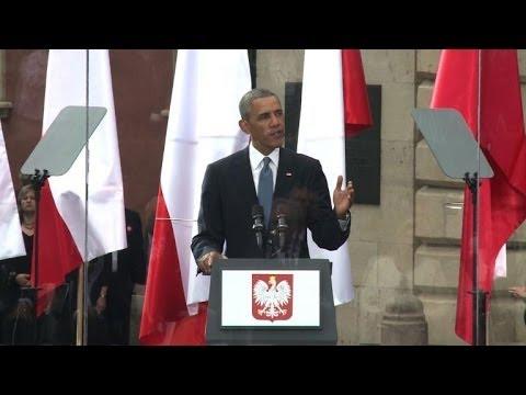 Obama condemns Russia's 'dark tactics' in Ukraine