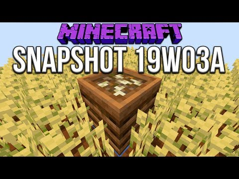 Minecraft 1.14 Snapshot 19w03a Composter! Make Bonemeal From Stuff!