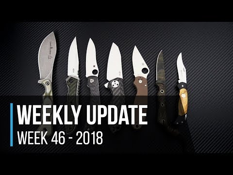 Weekly Update #46 - 2018: Smith & Sons Desperado, ZT 0640 & 0456CF Sprint, Spyderco Kapara & More!