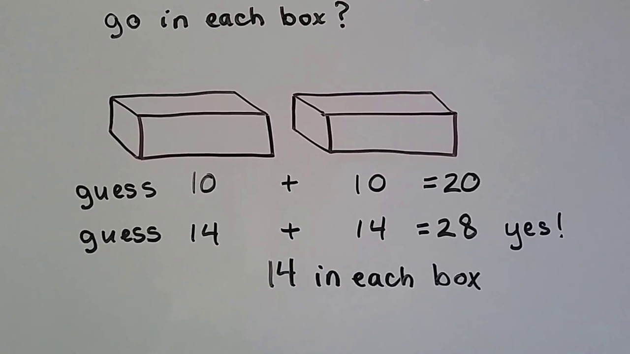 Grade 2 Math 3.9, Problem Solving, use Guess and Check
