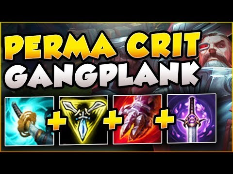 4v5 GAME?? NO PROBLEM! PERMA CRIT BUG ON GP?? PERMA CRIT GANGPLANK TOP GAMEPLAY! - League of Legends