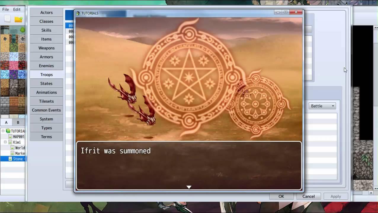 RPG Maker MV: Tutorial for Driftwood Gaming - Summons