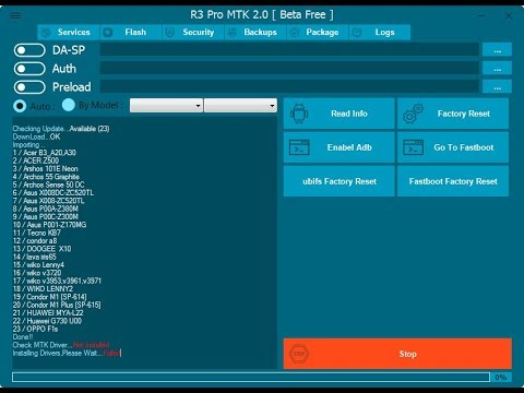 All in One Mtk Tool R3 v2 0 | Frp Reset/Read Pattern/Reset Lock