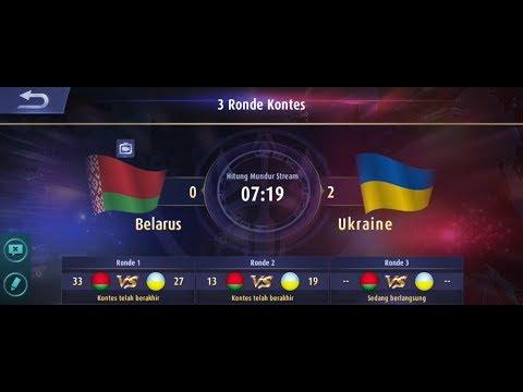 EFEK LAG BIKIN KETAWA || BELARUS vs UKRAINE || Kontes Arena - Mobile Legends Bang Bang