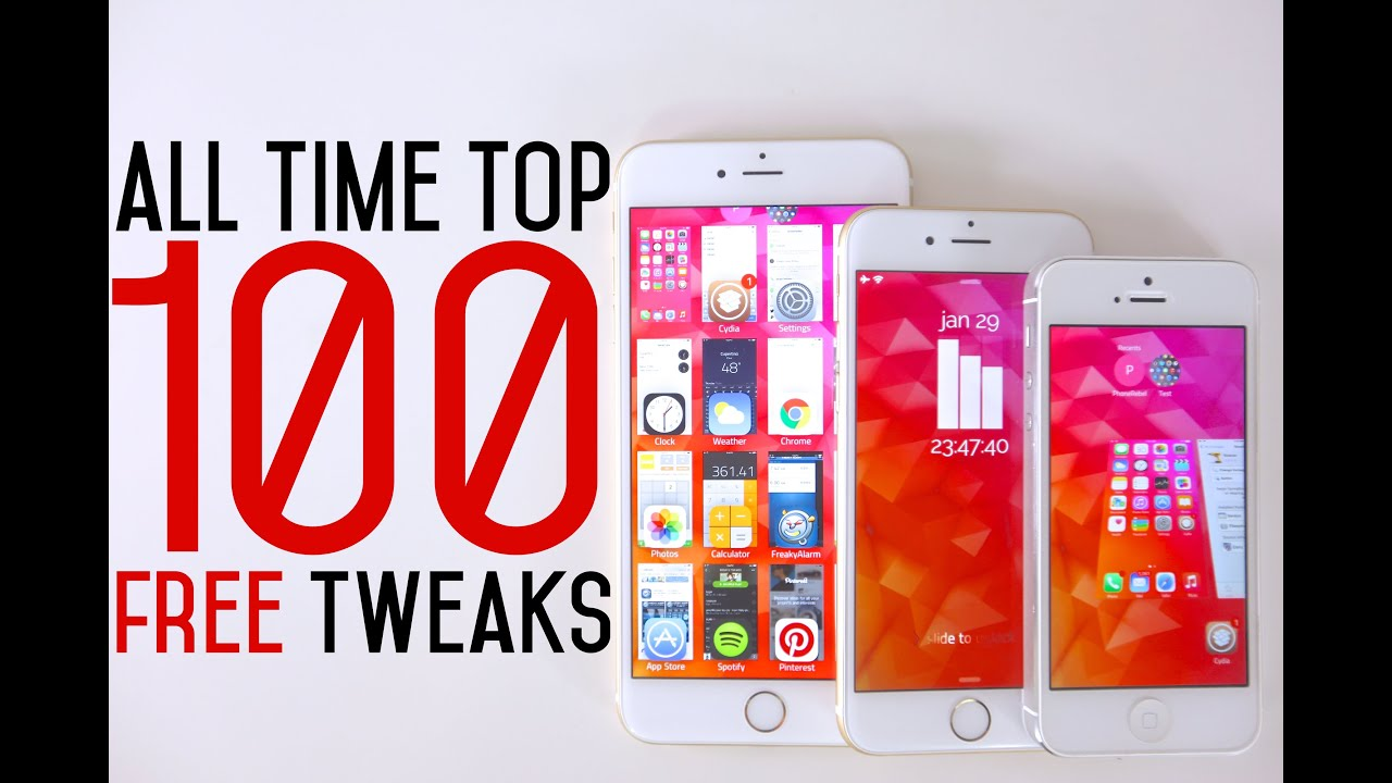 Top 100 FREE iOS 8 Cydia Tweaks Of ALL Time - 8.1.2 Taig Jailbreak Compatible