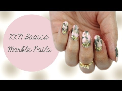 KKN Basics| Marble Nails (Plastic Wrap Method)