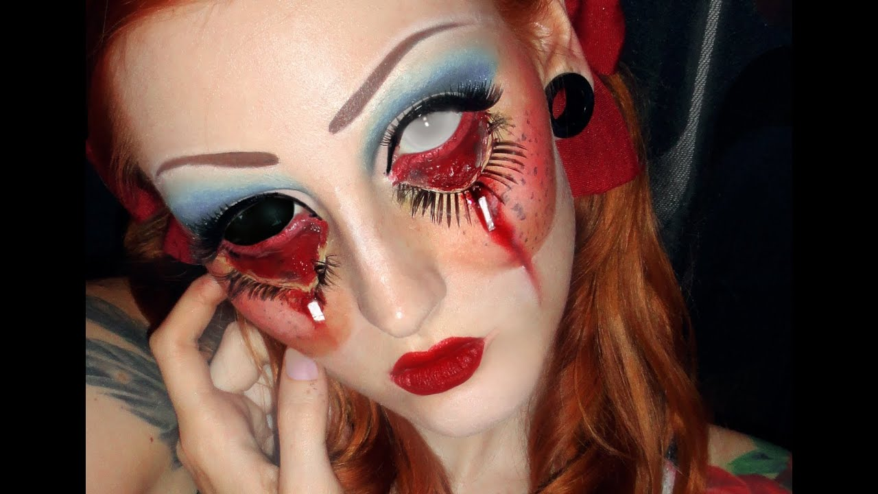 nyx face awards entry 2015 creepy doll makeup tutorial look halloween youtube. Black Bedroom Furniture Sets. Home Design Ideas