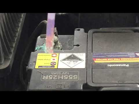 Cleaning and prevent corrosion at car battery terminal