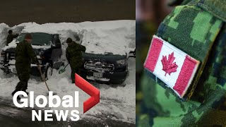 Canadian Forces arrive in Newfoundland to help dig out residents after winter storm