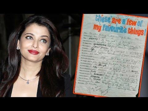 Leaked: Aishwarya Rai Bachchan's Slam Book Page Goes Viral!