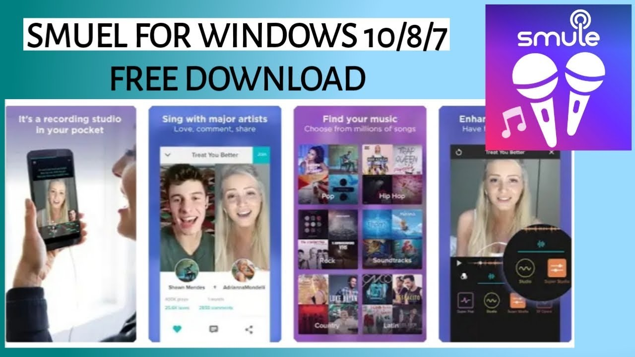 Smule For PC~ Windows 10/8/7 and MAC, Free Download