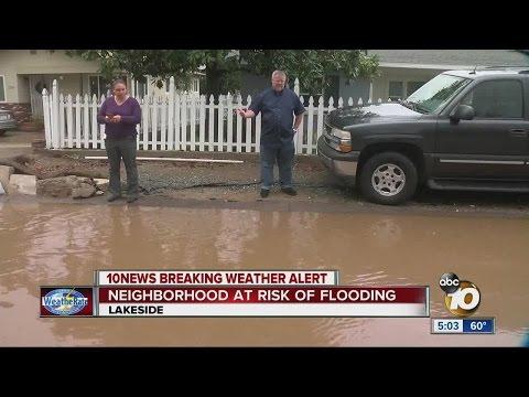 Neighborhood at risk of flooding