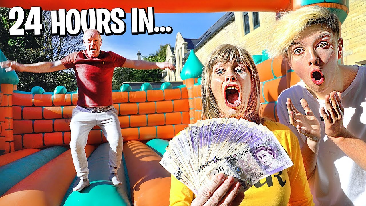 Last To Leave Bounce House Wins $10,000 - Challenge