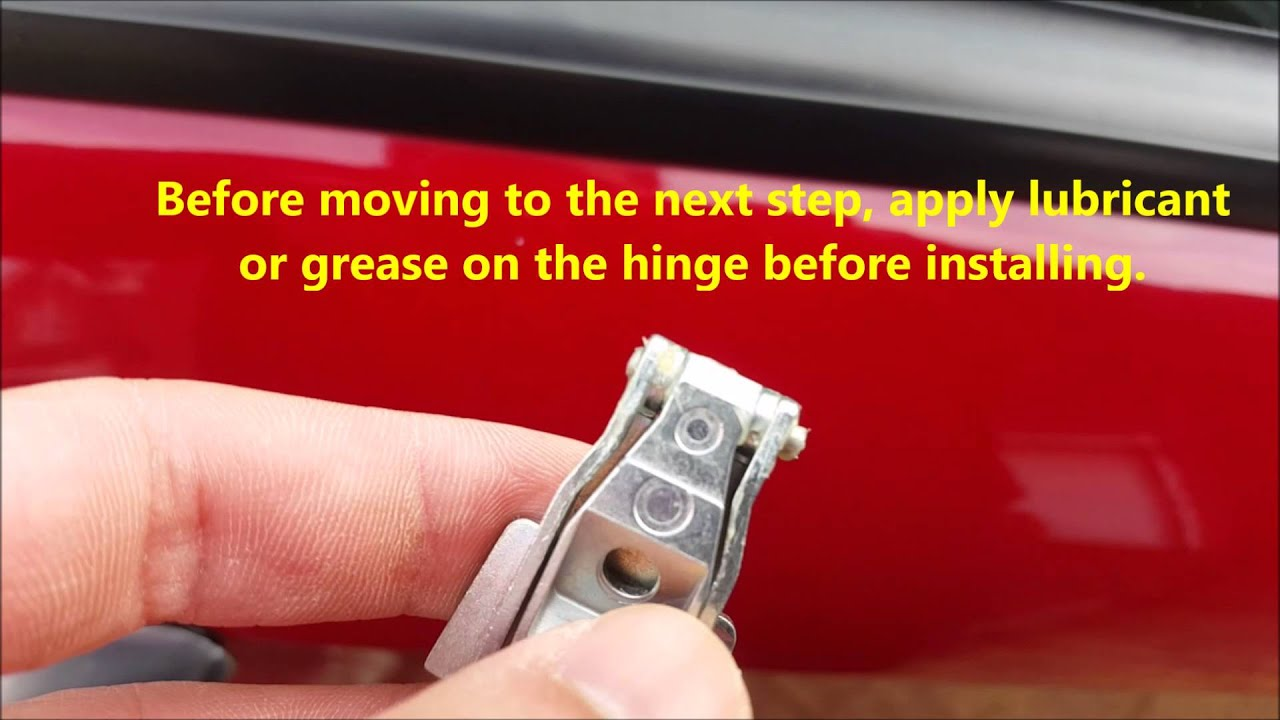 5 Steps Guide: Door Hinge Replacement Alfa 147 (Applicable To FIAT 500)    YouTube