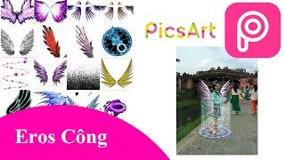 🔊🔊 [Picsart TIPS 🔥] Hướng dẫn chi tiết tạo hiệu ứng cánh thiên thần + Vòng tròn xoắn 🎯🎯🎯