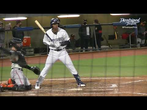 Oswald Peraza, Infielder, Hudson Valley Renegades, May 13, 2021, Open Side