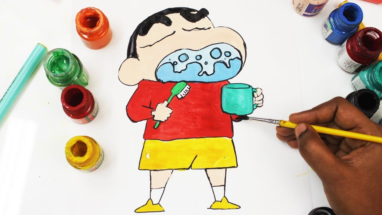coloring pages shin chan for babies u0026 drawing for children how