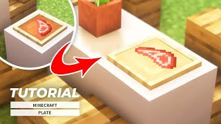 【マインクラフト】色を自由に変更できる皿の作り方(家具建築)