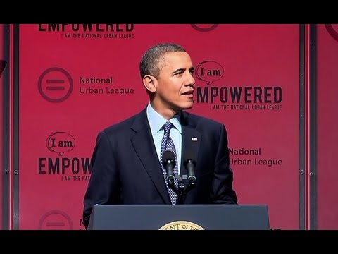 President Obama Speaks at the National Urban League Convention