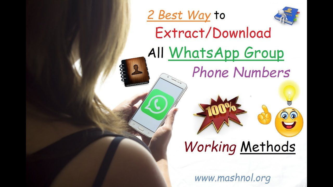 How to Export OR Download All WhatsApp Group Contacts | 2 Ways