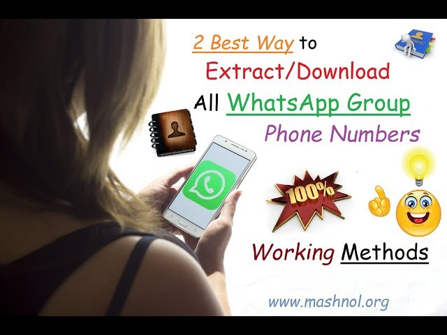 2 Best Way to Download | Extract All WhatsApp Group Contacts