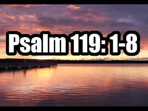 🎤 Psalm 119: 1-8 Song with Lyrics - All Your Commandments - Jason Silver [WORSHIP SONG]