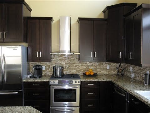 Espresso Painted Kitchen Cabinets - YouTube on Dark Maple Cabinets  id=33697