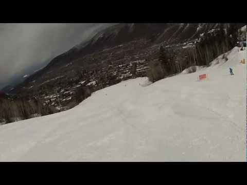 Aspen Mountain Colorado Skiing St Patties Day Movie March 17 2013 Helmet Cam