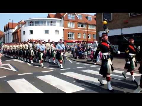 Argyll and Sutherland Highlanders March through Canterbury