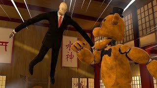 Slender Man VS Golden Freddy SFM