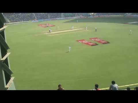 Live cricket match view from the stadium