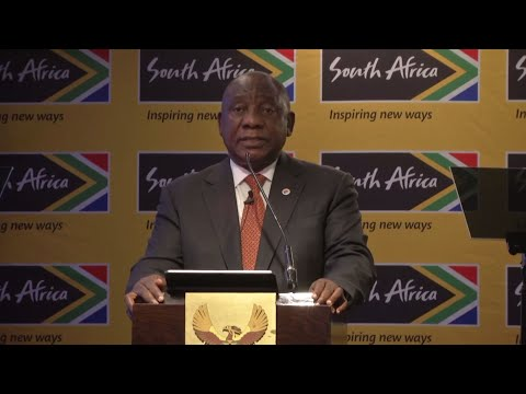 President Cyril Ramaphosa addresses South Africa