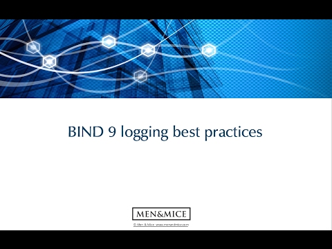 BIND 9 logging best practices