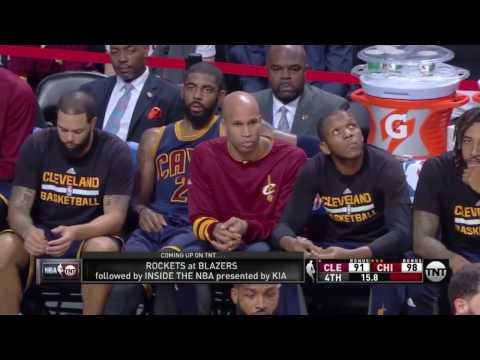 Lebron James forgets his man and gets angry at J.R. Smith instead of apologizing. NBA cleveland Cavs