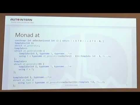 Lightning Talks Meeting C++ 2016 - Odin Holmes - Meta Monads