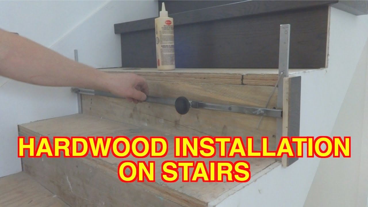 How to Install Hardwood on Stairs: Open Side Staircase ...
