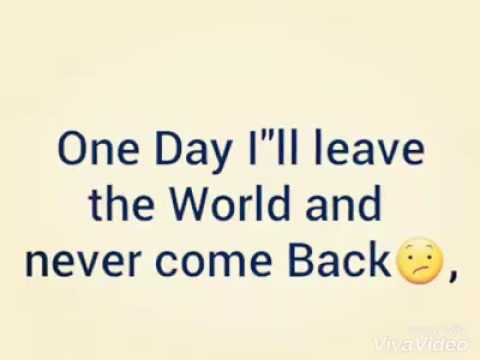 One Day You Will Miss Me Sad Song Youtube