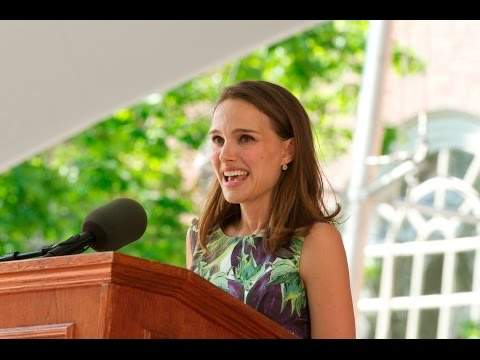 Natalie Portman Commencement Speech  - English subtitles