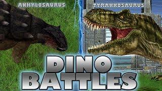DINO BATTLES - Ankylosaurus vs. Tyrannosaurus
