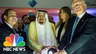 President Trump Touches Glowing Orb To