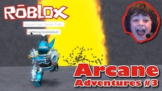 Roblox Let's Play: Arcane Adventures #3 Defeating Theos!