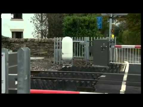BBC News Level crossing safety  Radar used to detect obstacles