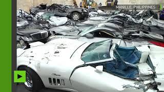 Message aux fraudeurs : Duterte fait pulvériser des voitures de luxe par des bulldozers